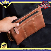 TAS TANGAN KULIT ASLI / CLUTCH BAG ORIGINAL LEATHER / DOMPET HP