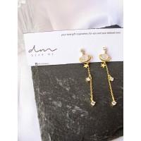 DearMe - SATURN Earrings (925 Sterling Silver with 18K gold plating)