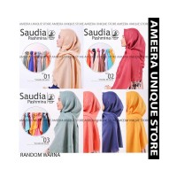 PASHMINA SAUDIA POLOS PART 1 Umama Jilbab Hijab Kerudung Pasmina Rawis