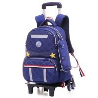 OJ 20L Kids Girls Boys Children Wheels Trolley Backpack School
