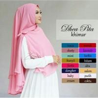 Jilbab Instan Hijab Khimar Ceruti Polos Dhea Pita 2 Layer Non Pet