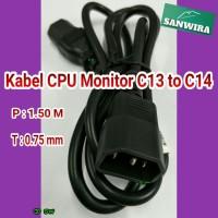 Kabel Power C13 - C14, Panjang : 1.50 meter (Best Quality)