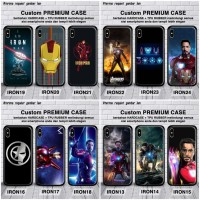 CUSTOM CASE IRONMAN IPHONE 6 PLUS / 7 PLUS / 8 PLUS PREMIUM GLASS CASE