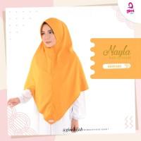 Jilbab Instant Nayla Khimar Warna Mustard Anti Kusut