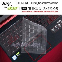 Big Sale Keyboard Protector Acer Nitro 5 An515-54 - Drskin Premium Tpu