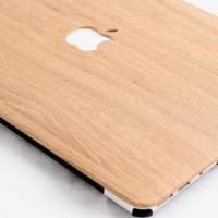 Ternama Casing Shell Cover Hardcase Light Brown Wood Macbook Air 13