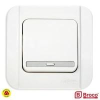 BROCO SAKLAR ENGKEL 1G GALLEO G161-55S WHITE TUNGGAL 1 GANG 1 WAY