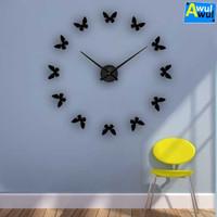 Jam Dinding Unik Besar Model Kupu-kupu | Butterfly Giant Wall Clock