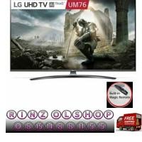 LED TV LG 65UM7600 SMART TV UHD 4K MAGIC REMOTE AI THINQ 65UM7600PTA