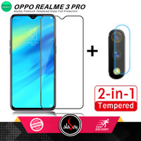 Paket Tempered Glass Layar dan Camera Realme 3 Pro