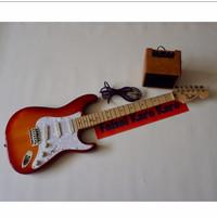 Gitar Fender Stratocaster Chery Paketan Siap Main