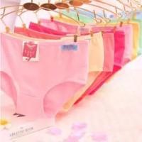 Undies CD Celana Dalam Wanita Polos Ukuran M-XXXL Jumbo Warna Random