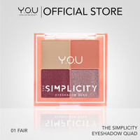 YOU The Simplicity Eyeshadow Quad Palet Eyeshadow 4 warna