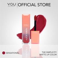 YOU The Simplicity Matte Lip Color Lipstik Lembut dan Tahan Lama