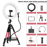 LED Ring Light 18inc 3200-5500K light utk live streaming stand Tripod