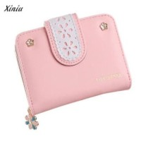 Dompet Lipat Wanita Cewek Fashion Pocket Hand Bag Wallet Dahlia Walet