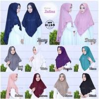 Hijab Khimar Zalina Jilbab Syari Murah Pad Antem Variasi Rempel Layer