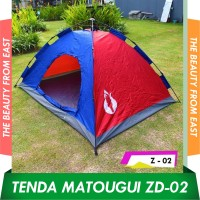 Matougui 2 x 1.5JSQZD Tenda Camping Otomatis Singgle Layer Kap 2 Orang