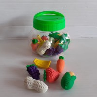 Candy Penghapus Fruit & Vegetable (Toples Isi 24 Pcs)
