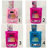 ATM celengan karakter hello kitty dan robocar poli- mainan atm - biru tobot