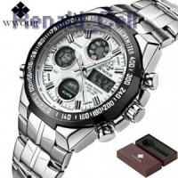 WWOOR Jam Tangan Luxury Pria 8019 White Black