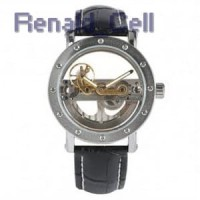 YISUYA Jam Tangan Analog Pria Mechanical Hollow Skeleton Design W188