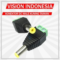SOKET DC MALE TAIWAN KUNING / KONEKTOR POWER DC KUNING