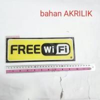 tulisan FREE WIFI / sign board gratis wi-fi papan signboard acrylic