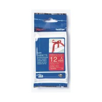 Brother Label TZE-RW34 Ribbon Gold on Wine Red Tape 12mm x 4m TZERW34