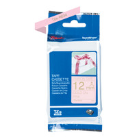 Brother Label TZe-RE34 Ribbon Tape Cassette Gold on Pink 12mm x 4m
