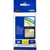 Brother Label TZE-PR254 Gold on Premium White Tape 24mm x 4m TZEPR254