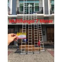 Tangga Multipurpose 7.4 Meter Tangga Lipat Tangga Alumunium AMG