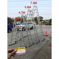 Tangga Multipurpose 4.7 Meter Tangga Lipat Tangga Alumunium AMG