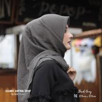 Hijab Square Cotton Drop Dark Grey