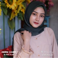 Hijab Nazma Square Emerald