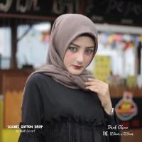 Hijab Square Cotton Drop Dark Choco