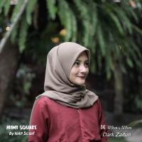 Hijab Mimi Square Dark Zaitun