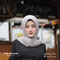 Hijab Square Cotton Drop Light Grey Silver