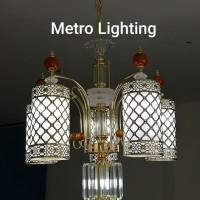 Lampu Gantung Kaca IL 16720/5+1 GD