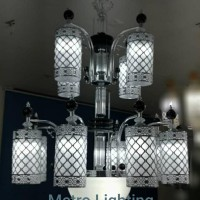 Lampu Gantung Kaca IL 16720/4+8 CHBK
