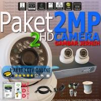 Paket CCTV AHD 4 Channel 2 HD Kamera Murah