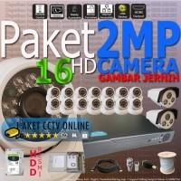 Paket HD 2MP CCTV Resolusi 1080 Camera HD DVR Hybrid 16 Channel