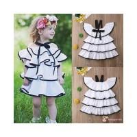 H-c Dress Casual Tanpa Lengan Warna Putih untuk Pesta Musim Panas