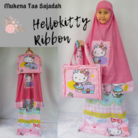Mukena Anak Hello Kitty Ribbon Tas Sajadah