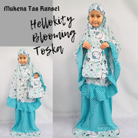 Mukena Anak Hello Kitty Blooming Tosca Tas Ransel
