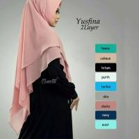 Khimar Syar'i Yusfina 2 Layer / jilbab Instan / Bergo instan