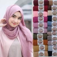 jilbab pashmina crinkle polos murah