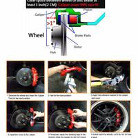 Cover Rem Brembo Merah M - Cover Disk Brake Medium Red Termurah