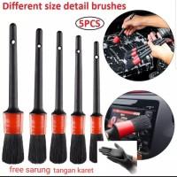 Detailing brush 5pcs kuas detailing set gagang plastik thumbnail