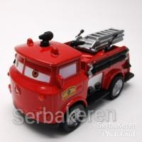 Diecast Disney pixar Red Fire Truck mobil pullback import